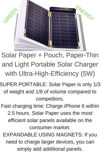 Solar Paper Pouch Paper Thin And Light Portable Solar Charger With Ultra High Efficiency 5w Solar Paper Solar Charger Most Efficient Solar Panels