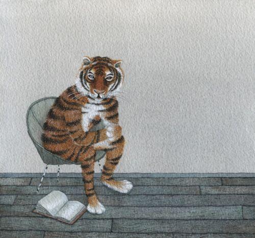 Wild reading / Lectura salvaje (ilustración de Anna Emilia)