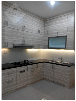 design kitchen set minimalis modern serpong gavin Kitchen set