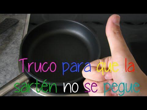 Que hacer para que los alimentos no se peguen en la sartén cuando se ha dañado el antiadherente - YouTube