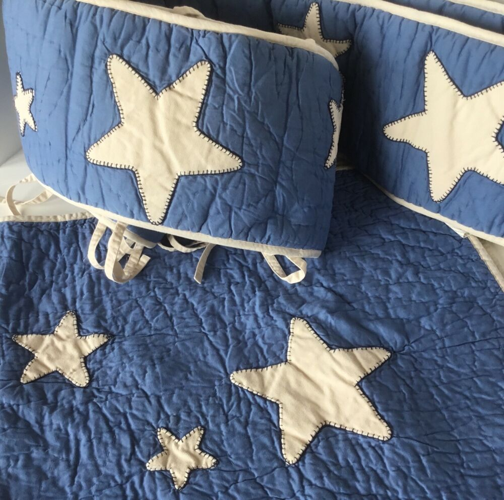 Details about Pottery Barn Kids Baby Stars Quilt Crib