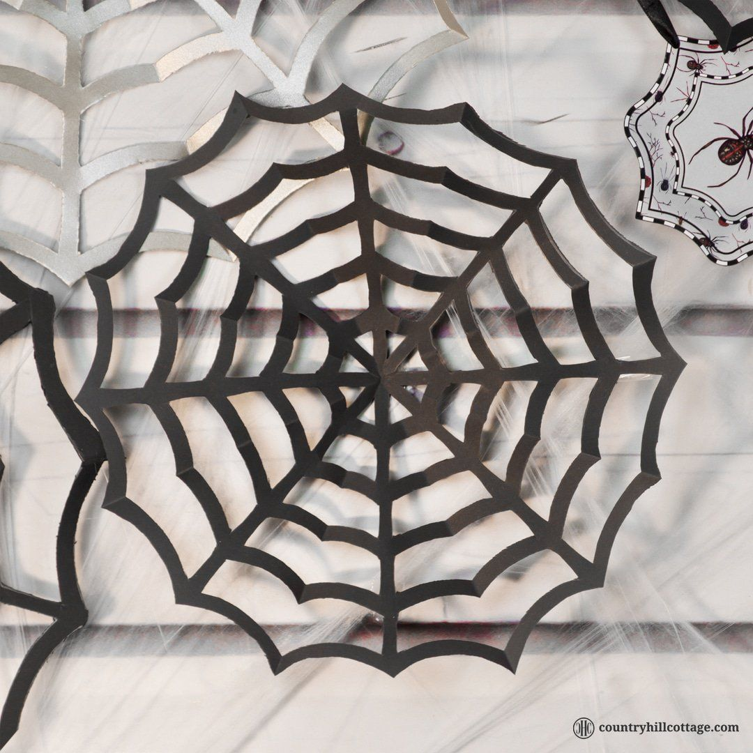 Paper Spider Web Diy Halloween Decorations Halloween Diy Diy