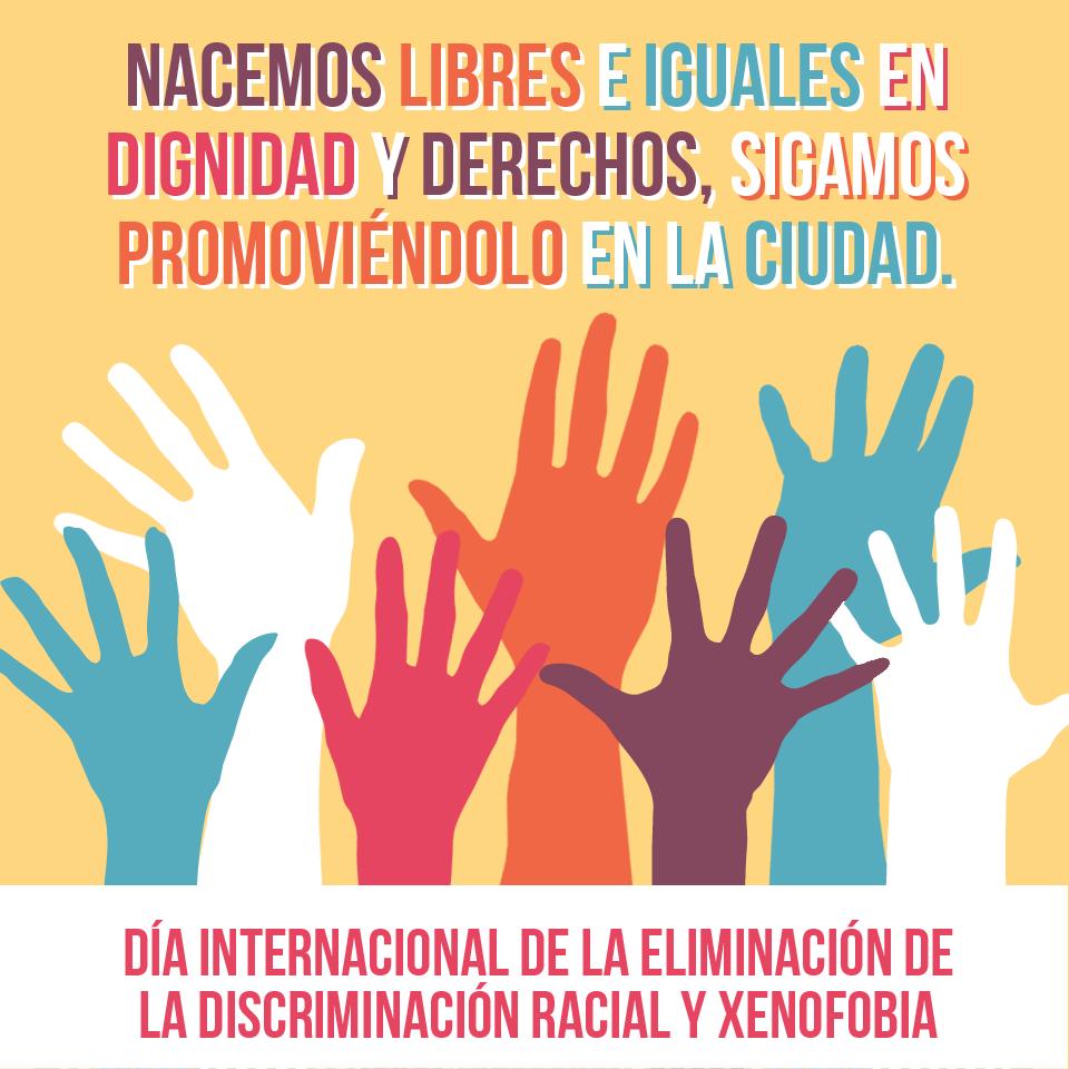 Día Internacional De La Eliminación De La Discriminación Racial Y Xenofobia Social Justice Spanish 1 Okay Gesture