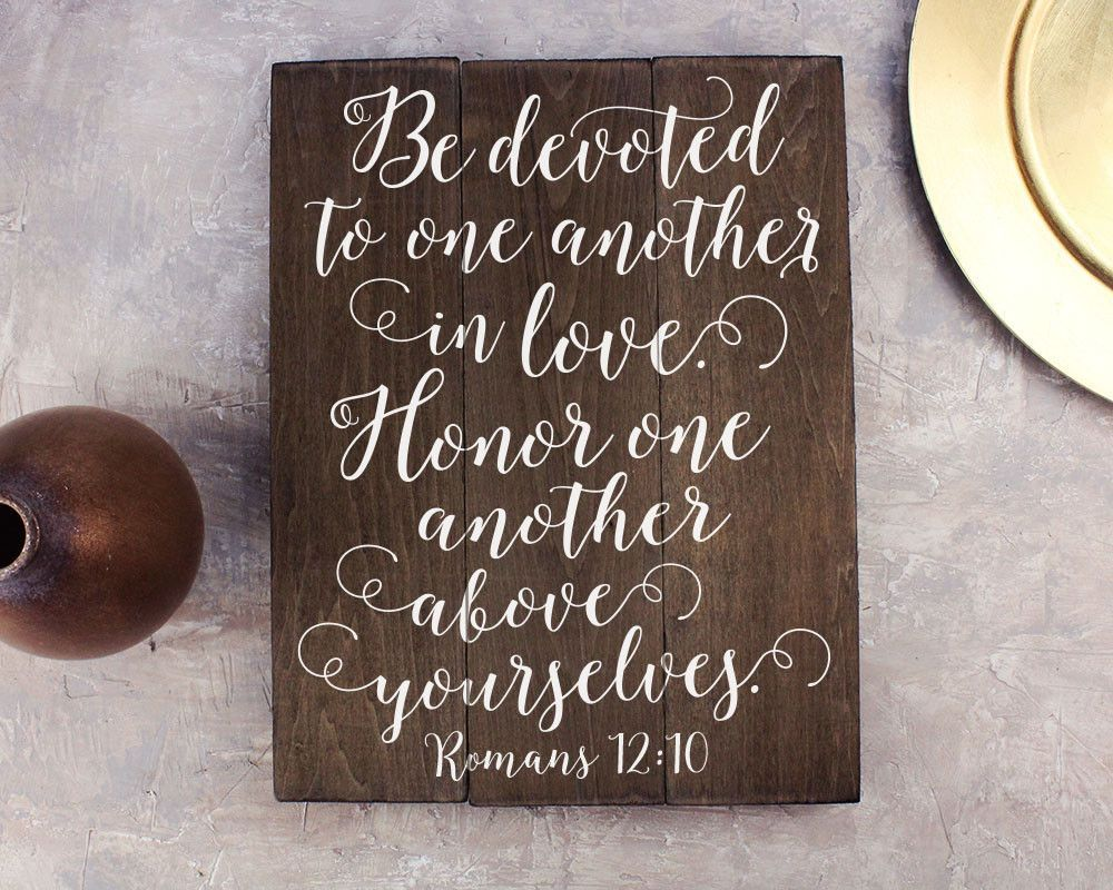Verses For Wedding Gifts: Romans 12 10 Bible Verse Wall Art Bible Verse Wedding Gift
