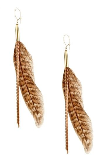 Classy take on feather earrings <3