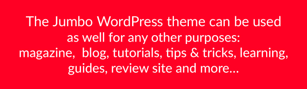 Jumbo - WordPress Magazine & Arcade Theme for HTML5 Games - 1