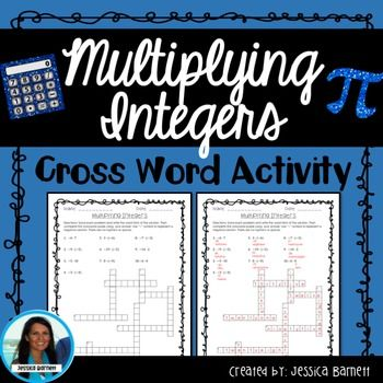 In This Activity Students Will Multiply Integers And Spell Out The