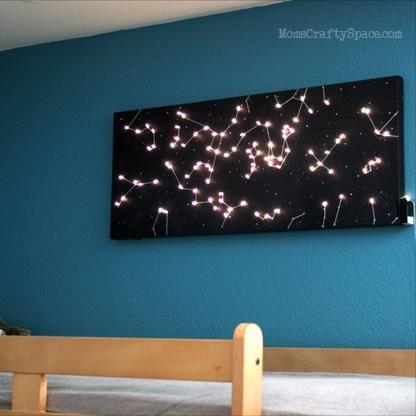 Diy Canvas Constellation Night Light Bedroom Diy Night Light Kids Diy Canvas Art