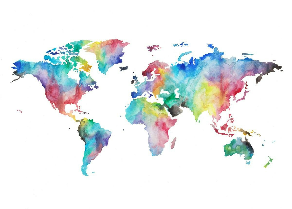 Map watercolor tattoo tattoos pinterest watercolour tattoos afbeeldingsresultaat voor watercolor world map gumiabroncs Gallery