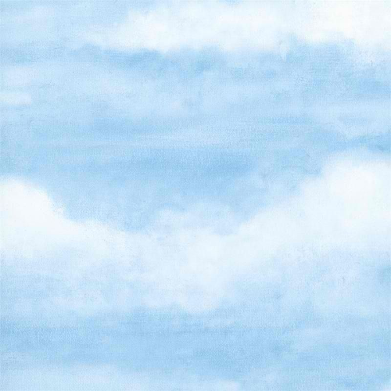 Interior Place Light Blue Clouds Wallpaper, 28.50