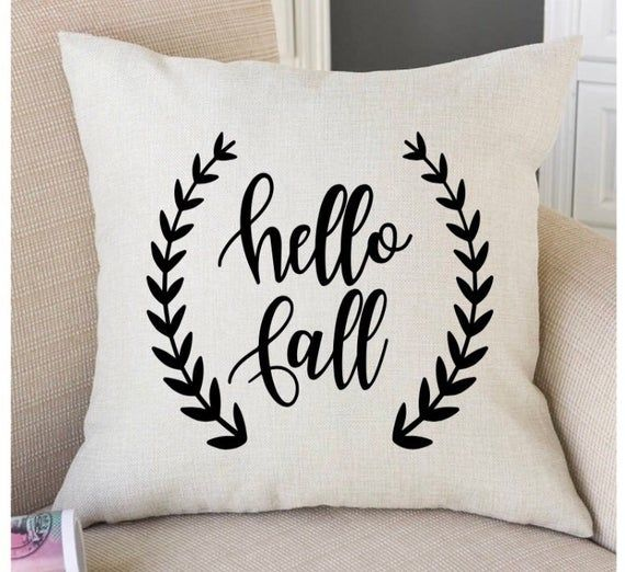 Fall Throw Pillow,Fall Farmhouse Decor, Hello Fall, Pillow Covers, Fall, Fall Pillows, Fall Home Dec #hellofall