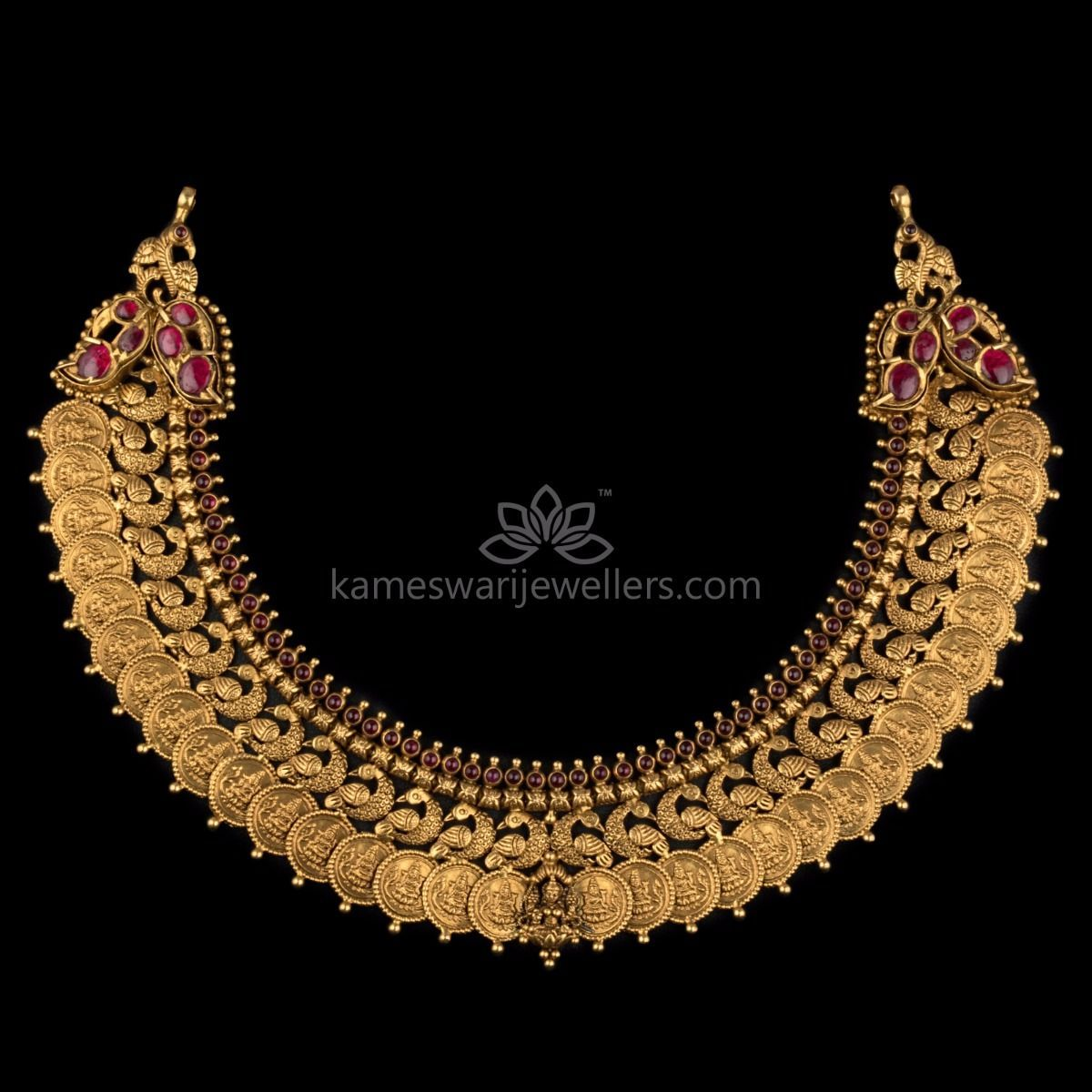 5d31345793 Buy traditional Necklaces online at Kameswari Jewellers in India.