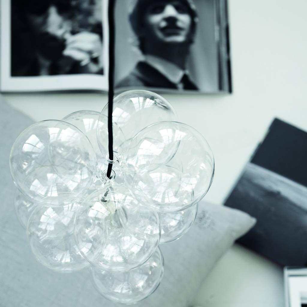 """Housedoctor Hängelampe """"DIY"""" mit 14 Glaskugeln, silber, Ø13cm - lefliving.de"""