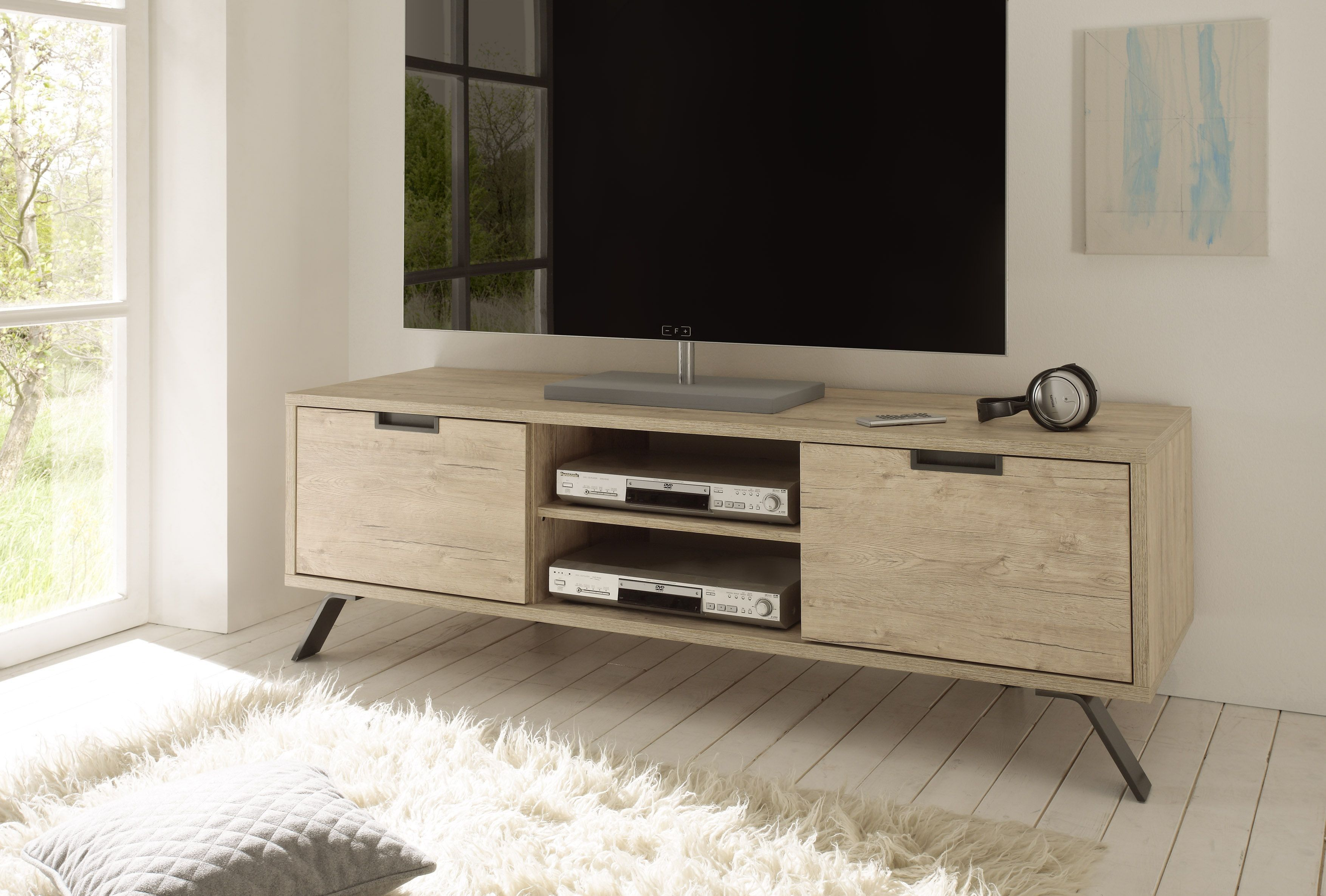 Oak Contemporary Tv Stand Base In Wood Contemporary Tv Stands