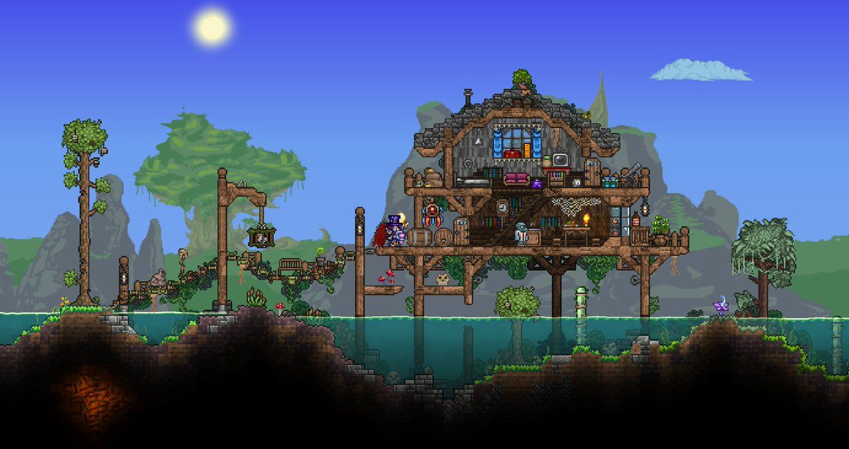 Pin By Ondrej Pavlicek On Terraria Terraria House Design