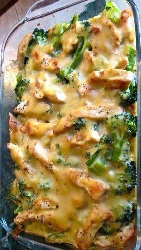 Skinny Chicken Broccoli Casserole  Recipes En 2019 -4734