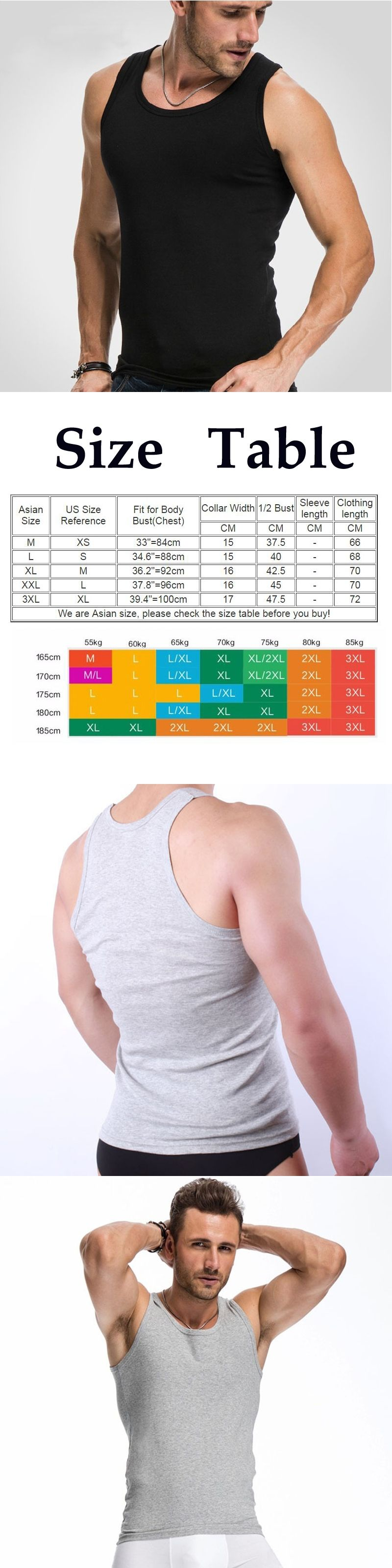 7c563368ecb07 2017 Summer Solid Color Cotton Tank Top Fitness Men clothing Sexy  Sleeveless O-neck T