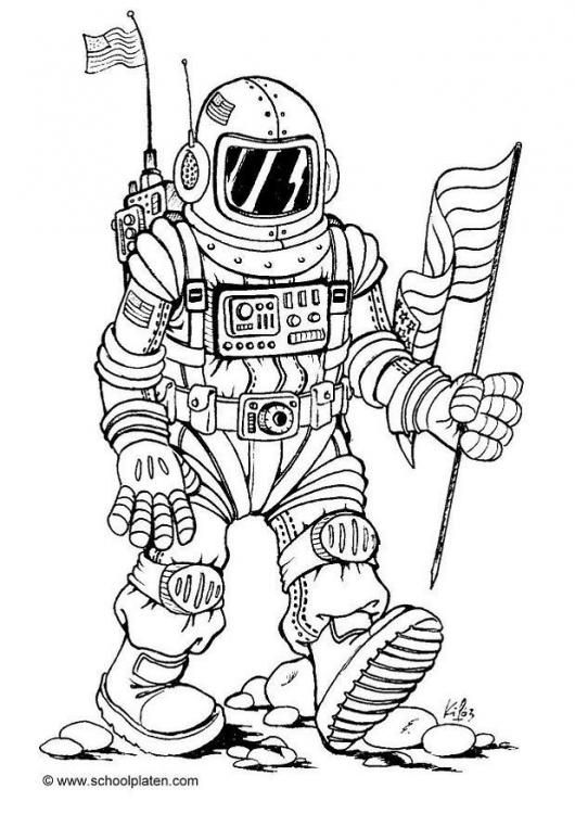 Coloring Page Astronaut Img 3954 Space Coloring Pages Solar System Coloring Pages Coloring Pages