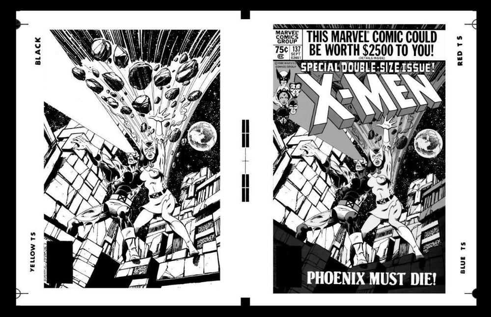 John Byrne X Men 137 Art And Cover Rare Large Production Art Ebay Classic Artwork John Byrne Art