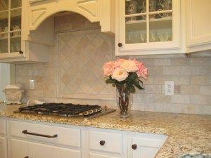 Honed Travertine Kitchen Backsplash
