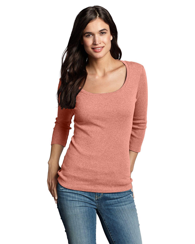 Women's Favorite 3/4sleeve Scoopneck Tshirt Eddie