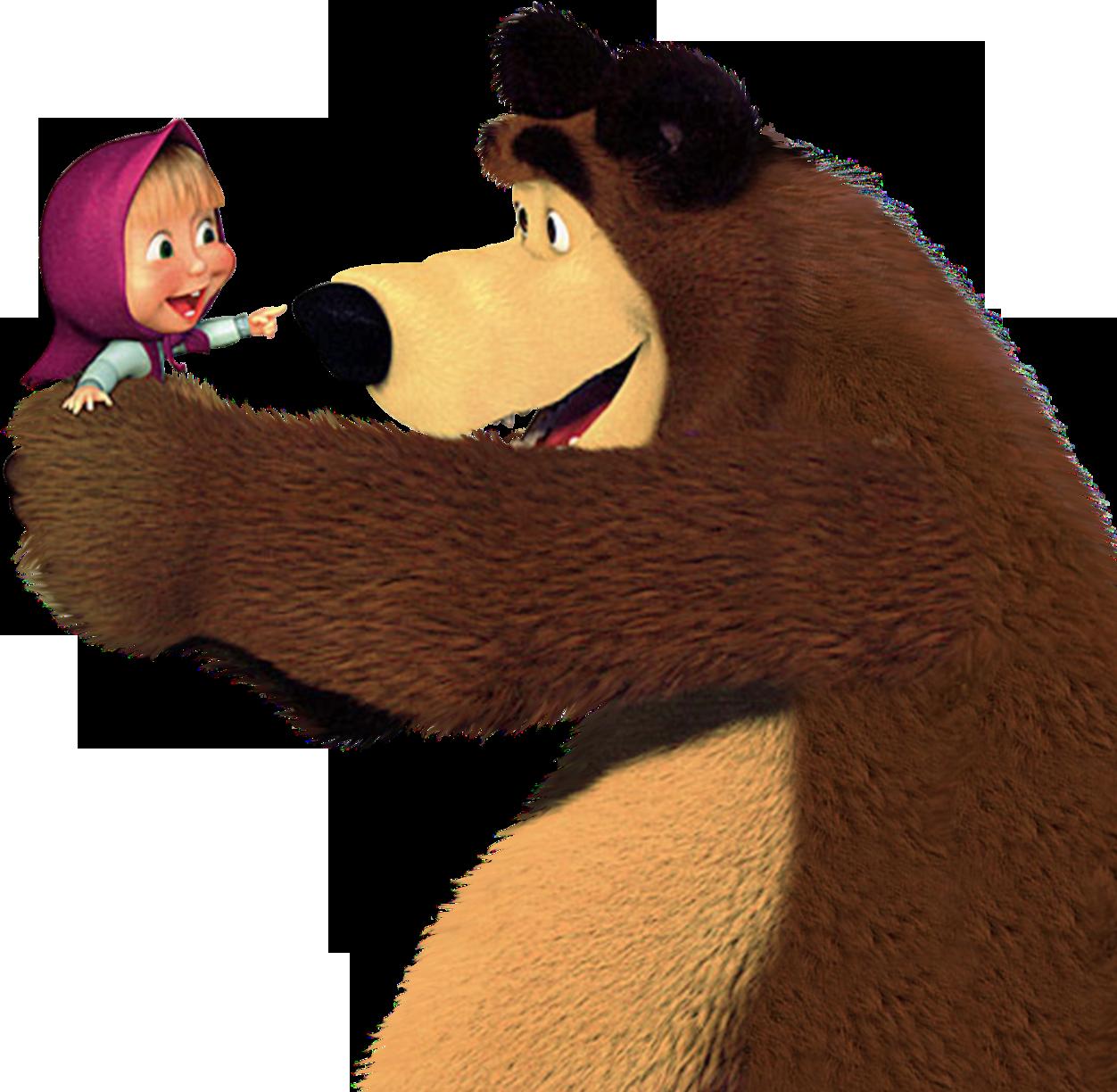 Masha And The Bear Transparent Png Clip Cartoons Png Masha And The Bear Cartoon