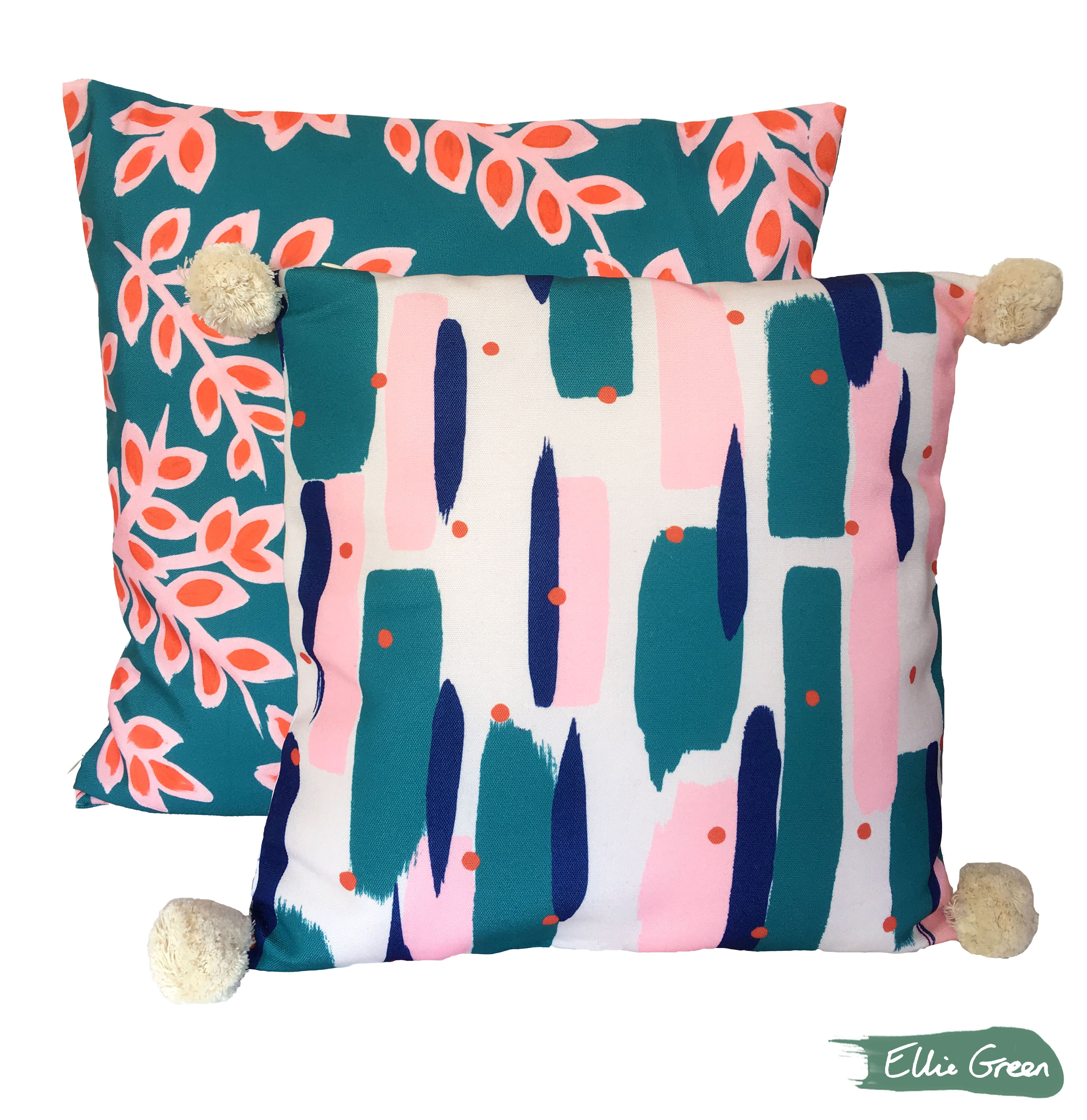 Cushions available to purchase from elliegreendesign ткани