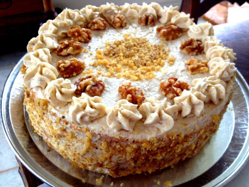 Polish Coffee And Walnut Cake