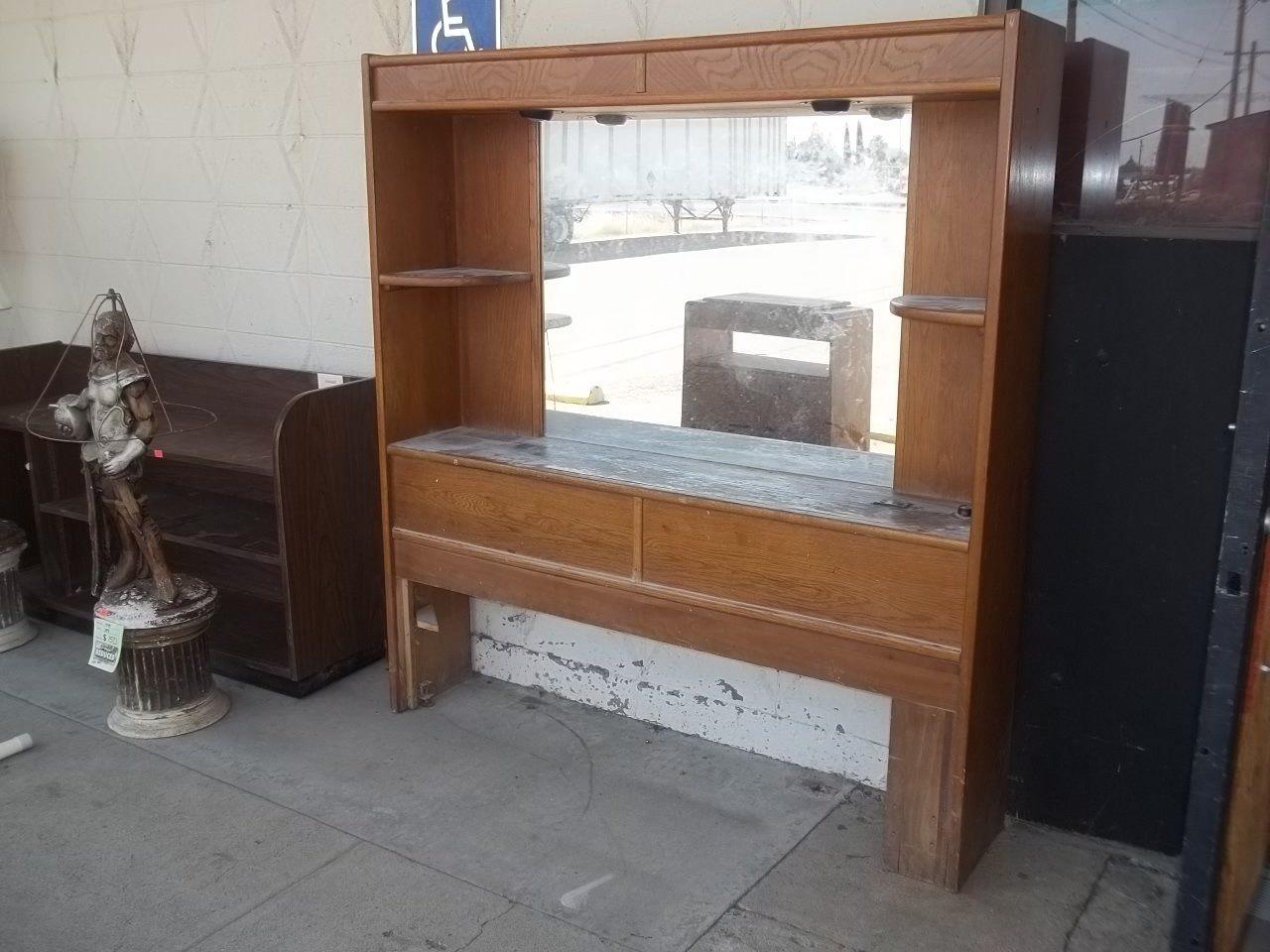 Queen/full mirrored bookcase headboard 11103 Bookcase