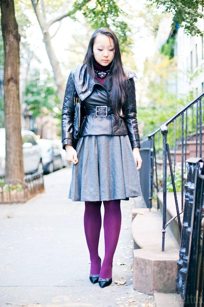 burgundy turtleneck sweater, runway quilted belted leather jacket, hm wool full midi skirt, kate spade bow block heel pumps, fall, new york fashion blog, street style, diya liu