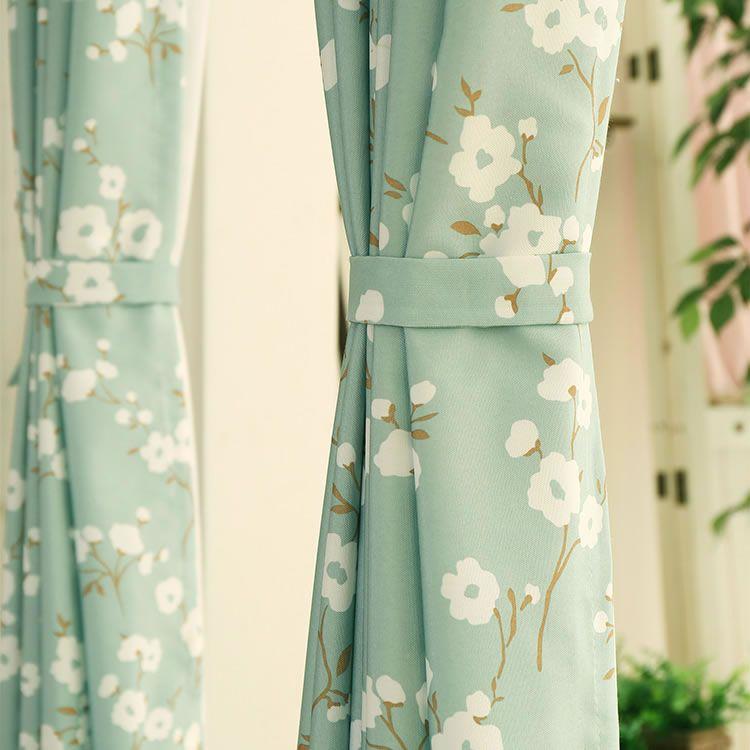 pas cher nouvelle arriv e coton rideaux pour fen tres bleu tissu pour rideaux pastorale rideaux. Black Bedroom Furniture Sets. Home Design Ideas