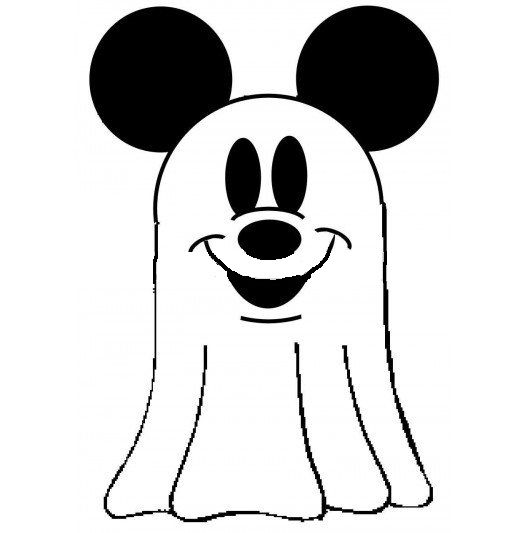 disney mickey mouse halloween ghost coloring pages for kids - Ghost Coloring Page