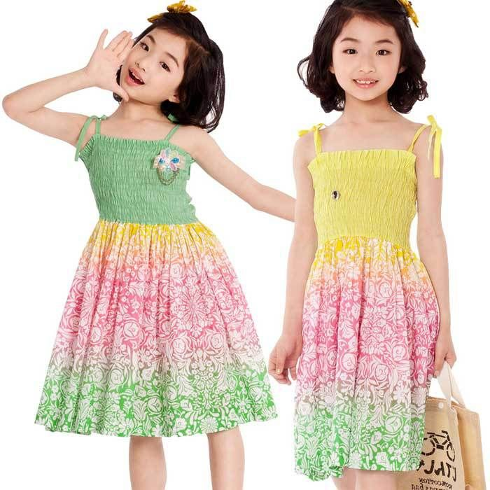 Aliexpress.com : Buy 2013 Summer Beach Dresses Little Girls Cotton ...