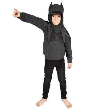 Bang Bang Copenhagen Bat Quilt Hooded Sweatshirt #superhero #boysclothes