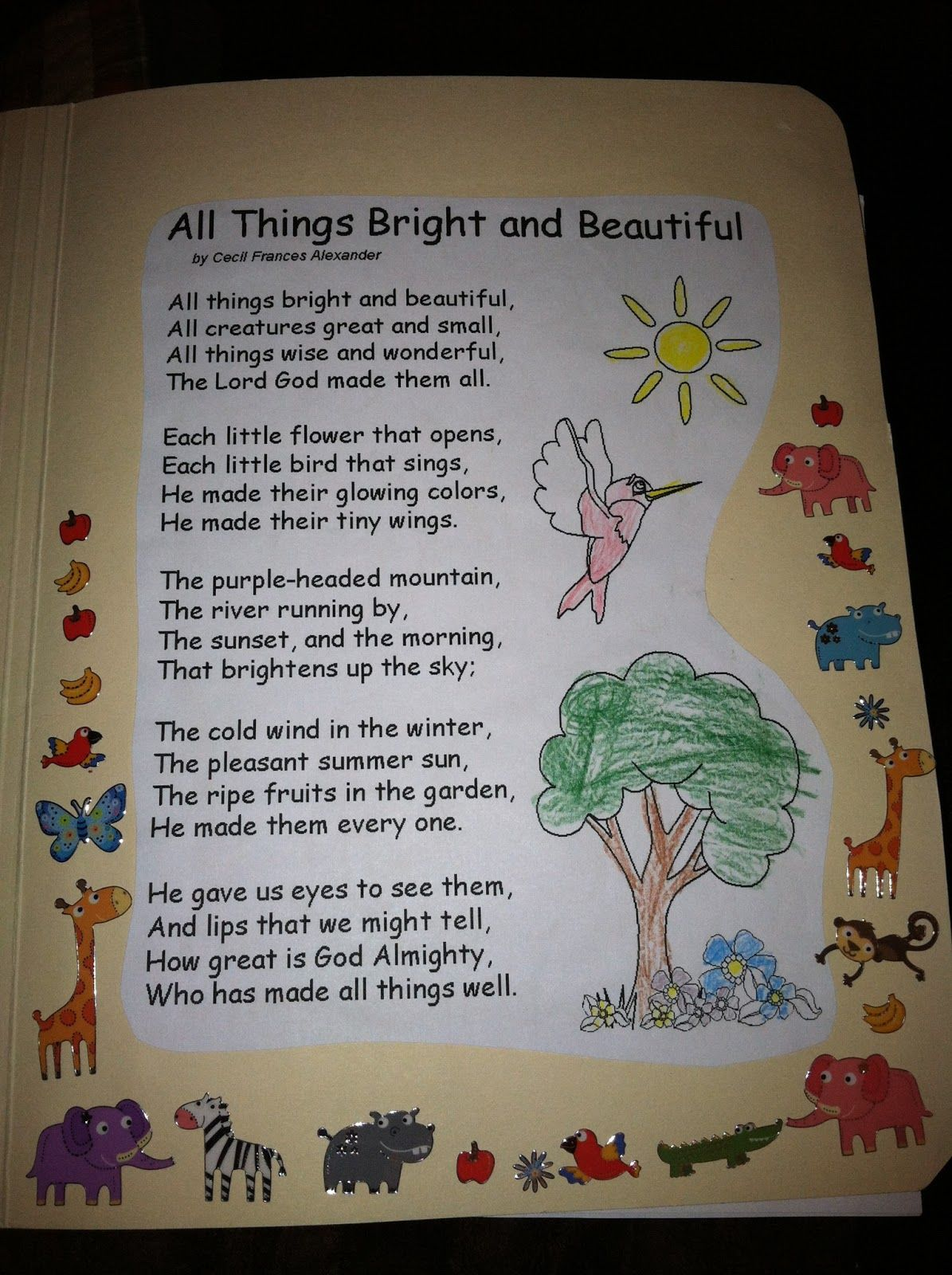 """Beautiful And Bright Dining Room Ideas: Image Result For """"all Things Bright And Beautiful"""" Poem By"""