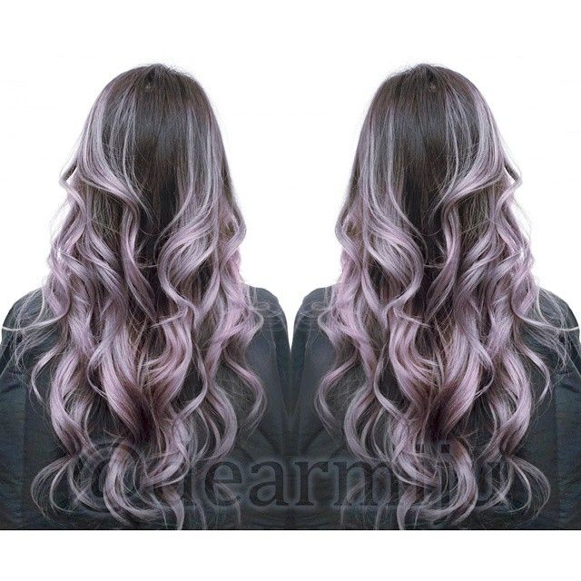 highlighted ombre in silver lilac hues dearmijuhair