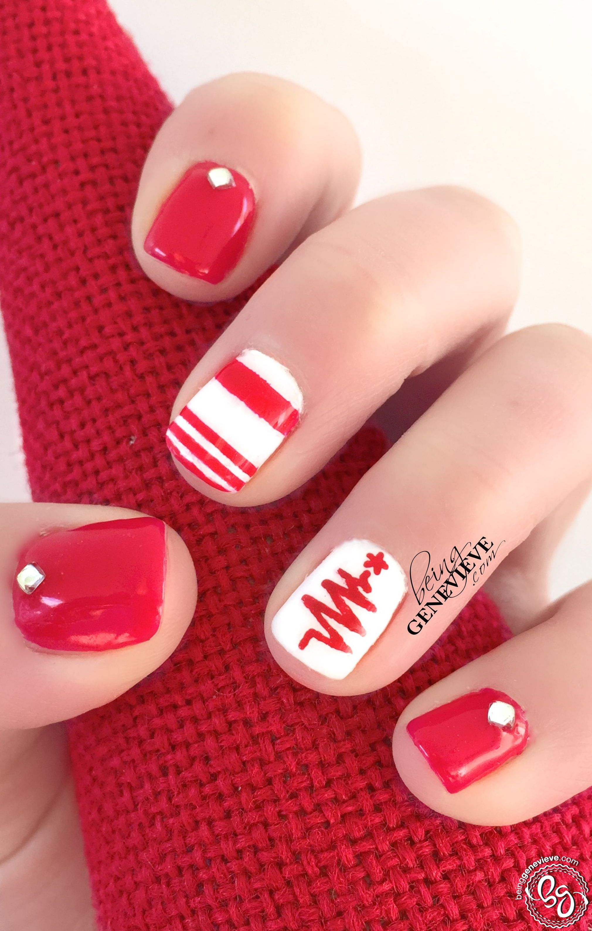 Retro Red Christmas | Red christmas, Christmas nail art designs and ...