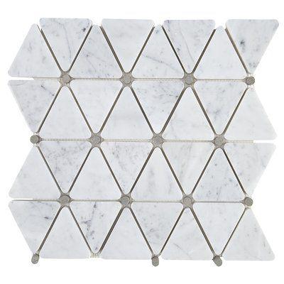 Itona Tile Harrison 3 X 3 Marble Mosaic Tile Mosaic Tiles