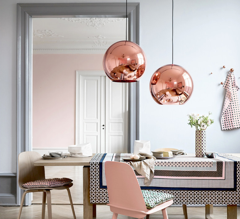 Suspension Copper Round Cuivre O45cm Tom Dixon Copper Lights Kitchen Copper Lighting Cheap Pendant Lights