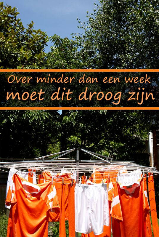 Over minder dan een week...