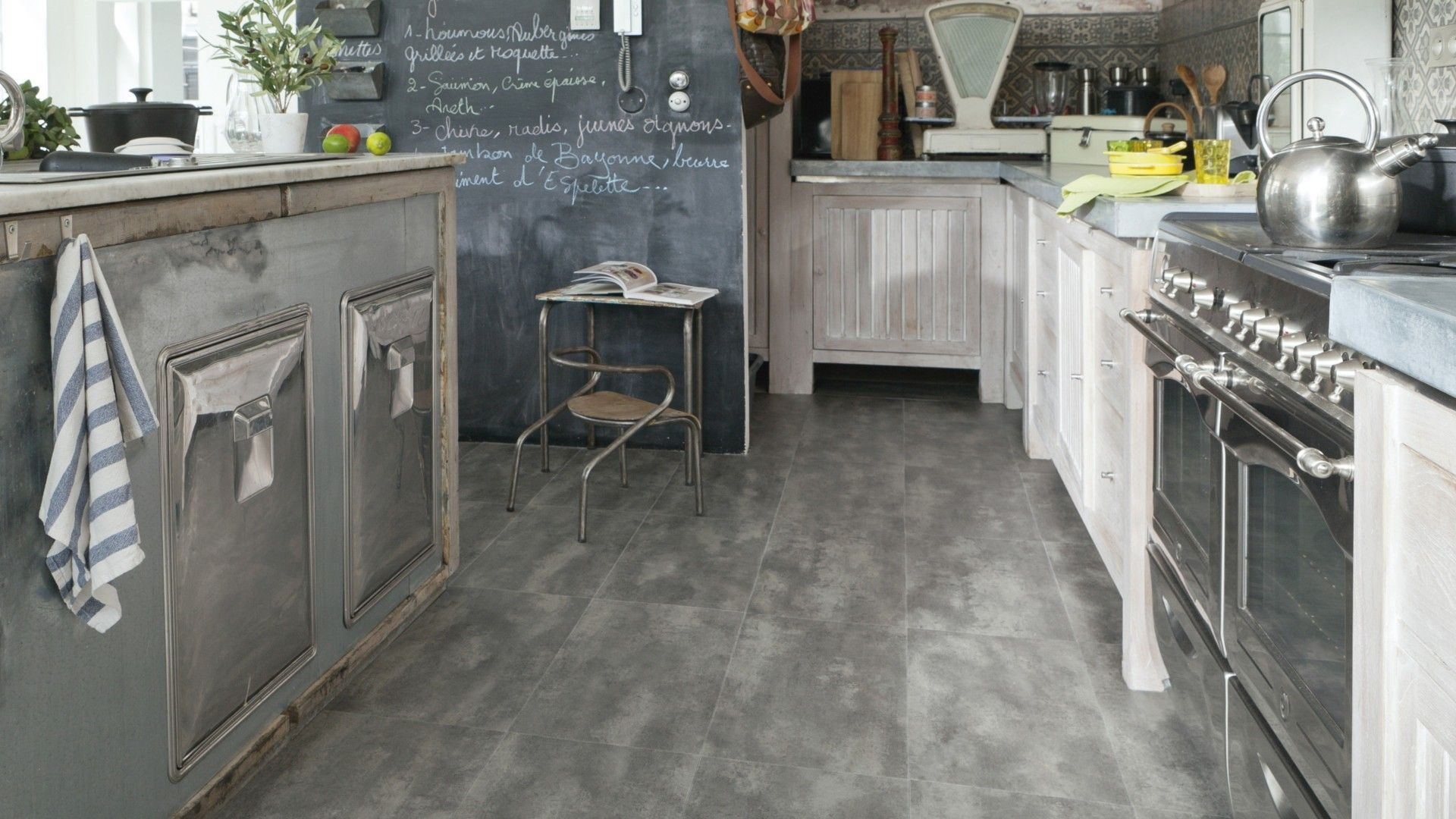 dalle vinyle clipser easytrend tile premium b ton clair cocina pinterest. Black Bedroom Furniture Sets. Home Design Ideas