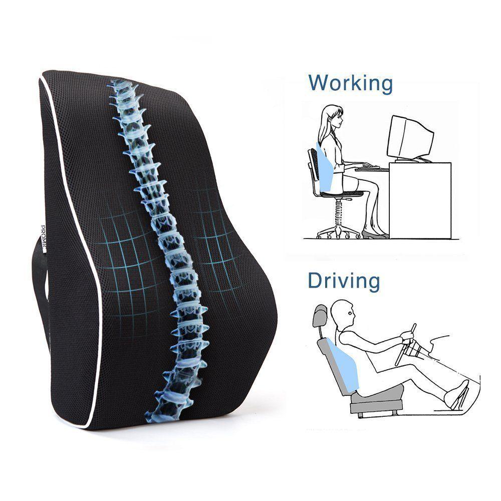 EPMIC Memory Foam Orthopedic Back Cushion, Lower Back