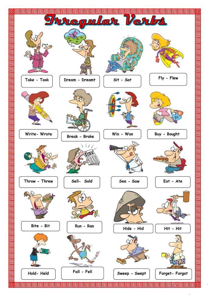 Irregular Verbs Anglictina Irregular Verbs Grammar A Vocabulary
