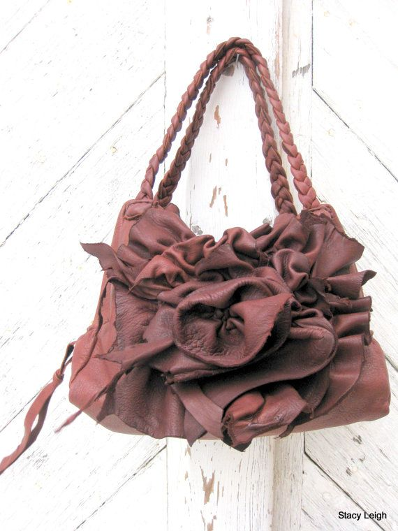 Cedar Rose Deerskin Handbag