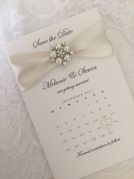 The Pearle sample wedding save the date calendar Made with wide
