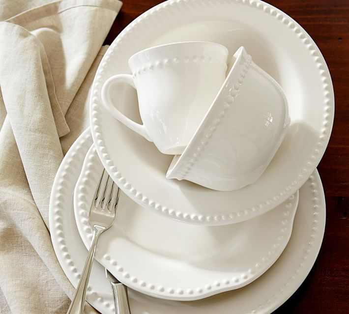 Emma 16 Piece Soup Bowl Set White White Dinnerware