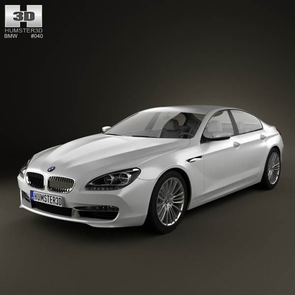 Elegant 3D Model Of BMW 6 Series Gran Coupe (F14) 2012