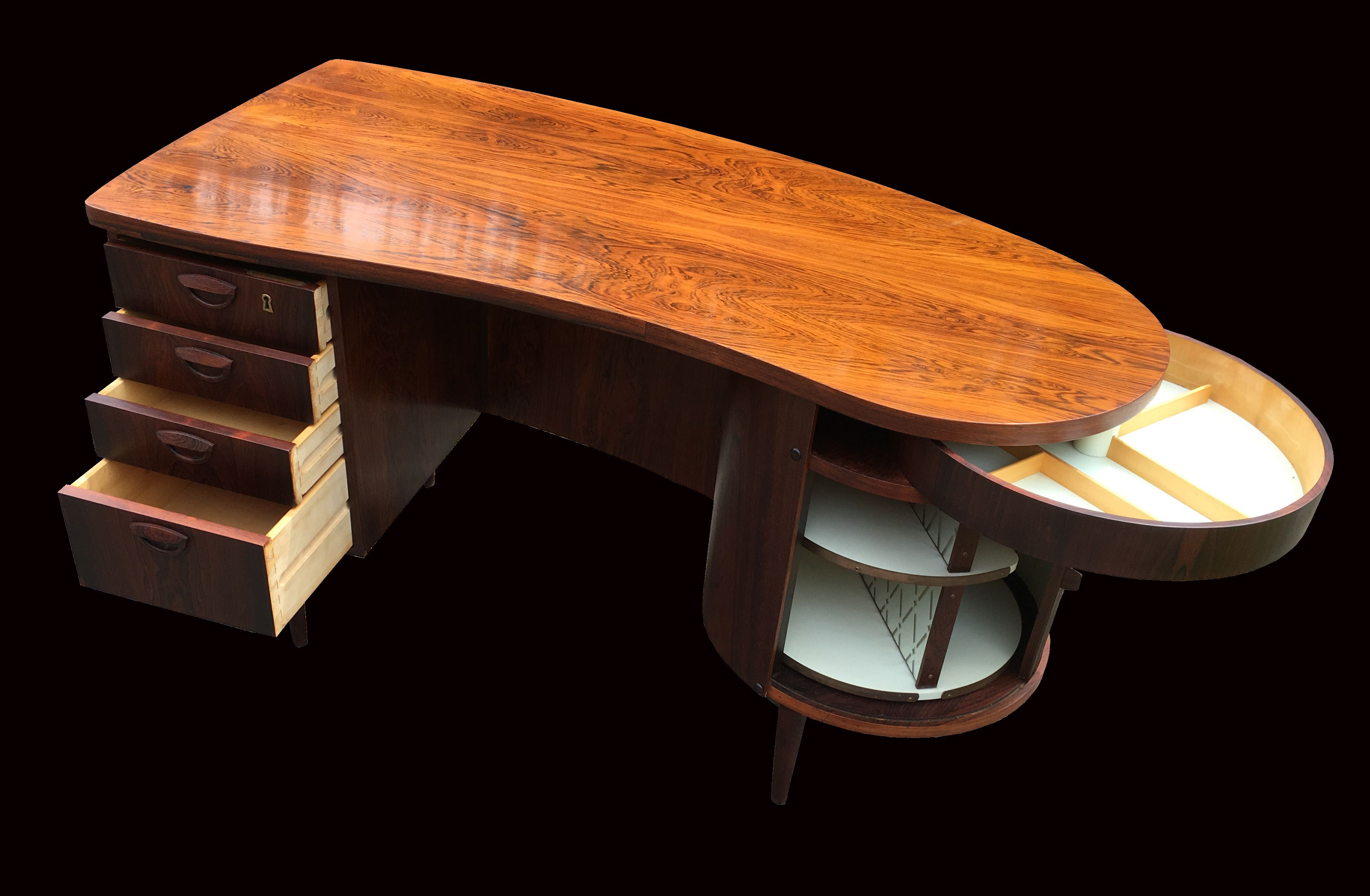 Rosewood Model 54 Desk By Kai Kristiansen For Fm Mobler Desk
