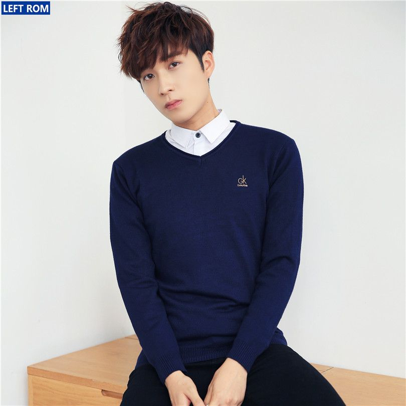 Asia 2017 new hot, 5 fold Men fashion casual sweater Concise world youth popular trend