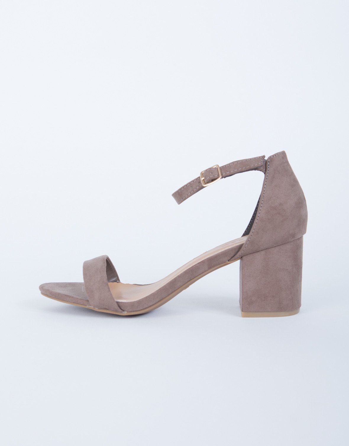 ca7484ed3b5 Ankle Strapped Block Heel Sandals in 2019